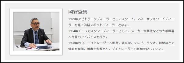 岡安盛男プロフィール