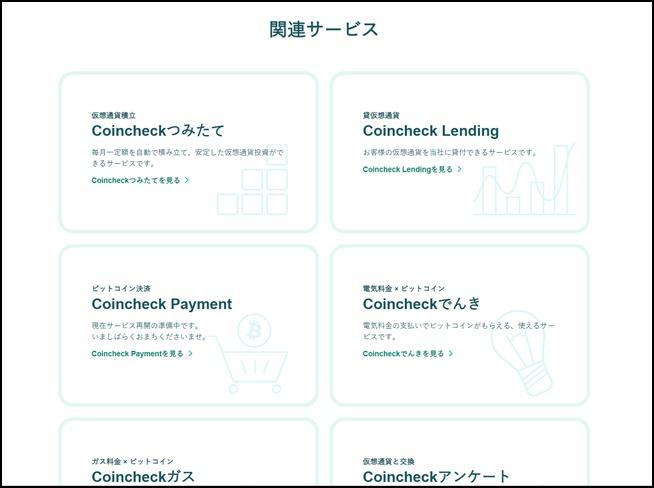 coinchecksurve コインチェック関連サービス