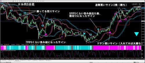 プロトリFX検証ドル円チャート
